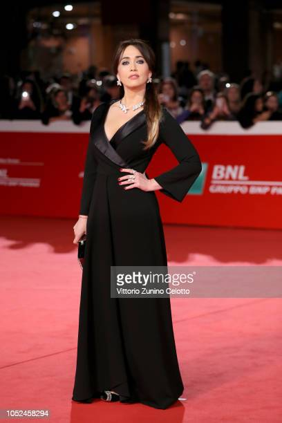 Chiara Francini walks the red carpet ahead of the Bad Times At The El Royale screening during the 13th Rome Film Fest at Auditorium Parco Della...