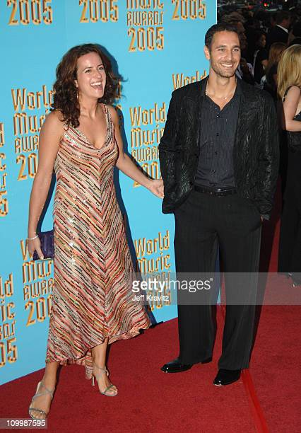 Chiara Giordano and Raoul Bova during 2005 World Music Awards Arrivals at Kodak Theater in Hollywood California United States