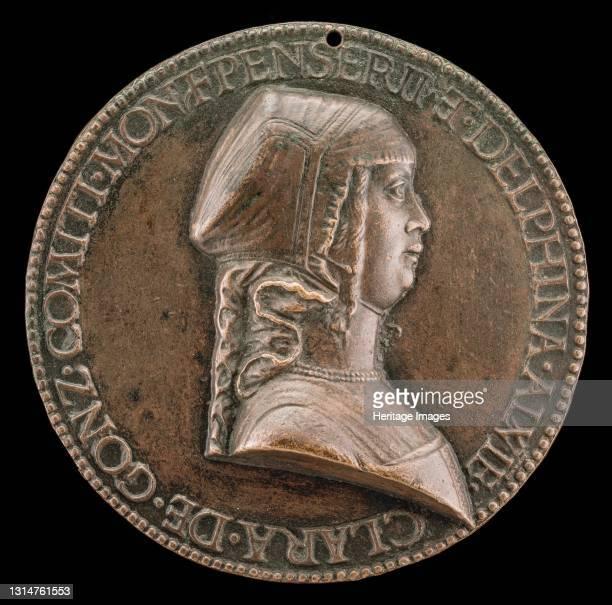 Chiara Gonzaga, 1464-1503, Wife of Gilbert de Bourbon 1481 [obverse], c. 1481. Artist Bartolommeo di Virgilio Melioli.
