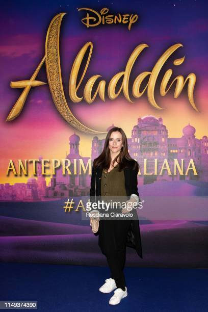 Chiara Iezzi attends the Aladdin photocall and red carpet at The Space Cinema Odeon on May 15 2019 in Milan Italy