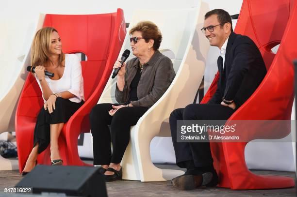 Chiara Maffioletti Mara Maionchi and Renato Franco attend FuoriCinema on September 16 2017 in Milan Italy