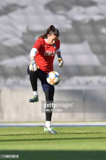 Chiara Marchitelli of Italy Women in action during a training session at Stadium Lille Metropole on June 17, 2019 in in Villeneuve d'Ascq near Lille,...
