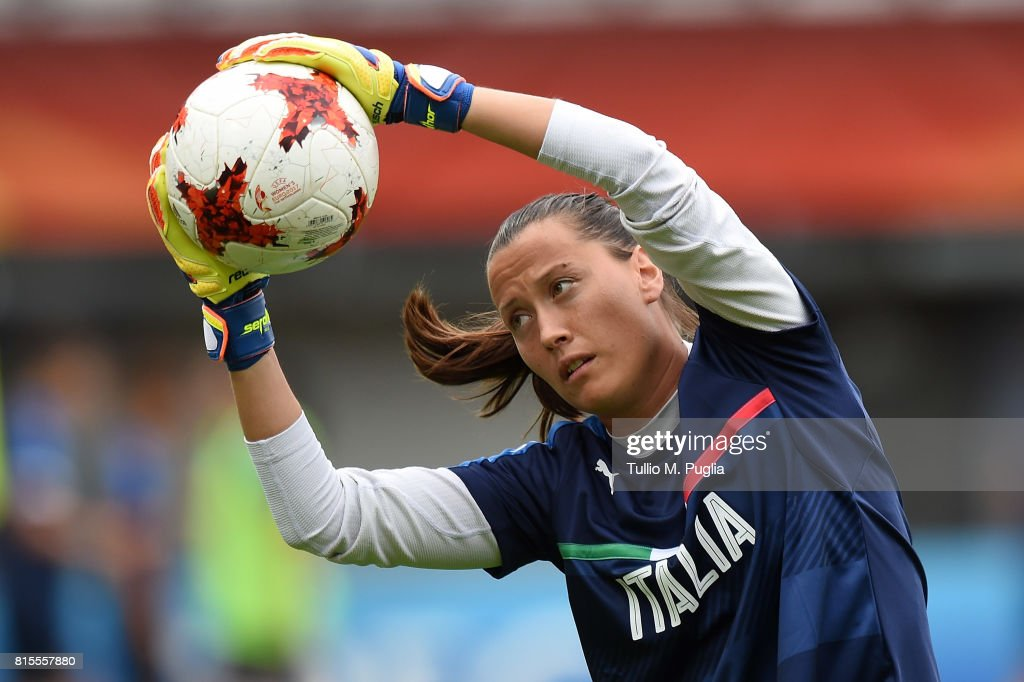 Chiara Marchitelli of Italy women's national team in action during a training session at Sparta Stadion Het Kasteel on July 16, 2017 in Rotterdam, Netherlands.