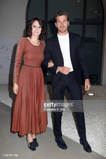 Chiara Martegiani and Alan Cappelli Goetz arrive at the Nastri D'Argento 2019 nominees presentation at Maxxi Museum on May 30 2019 in Rome Italy