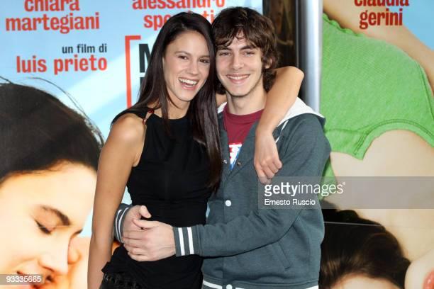 Chiara Martegiani and Alessandro Sperduti attend the 'Meno Male Che Ci Sei' photocall at Adriano Cinema on November 23 2009 in Rome Italy