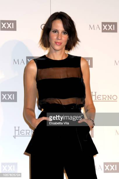 Chiara Martegiani attends MAXXI Acquisition Gala Dinner at Maxxi Museum on November 5 2018 in Rome Italy