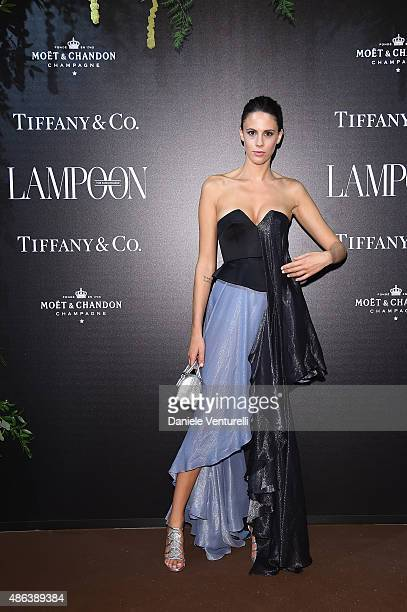 Chiara Martegiani attends the Lampoon Gala during the 72nd Venice Film Festival at Palazzo Pisani Moretta on September 3 2015 in Venice Italy