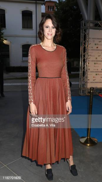 Chiara Martegiani attends the Nastri D'Argento 2019 nominees presentation at Maxxi Museum on May 30 2019 in Rome Italy