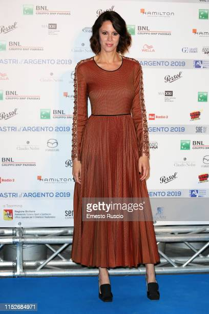 Chiara Martegiani attends the photocall ahead of the Nastri D'Argento 2019 nominees presentation at Maxxi Museum on May 30 2019 in Rome Italy