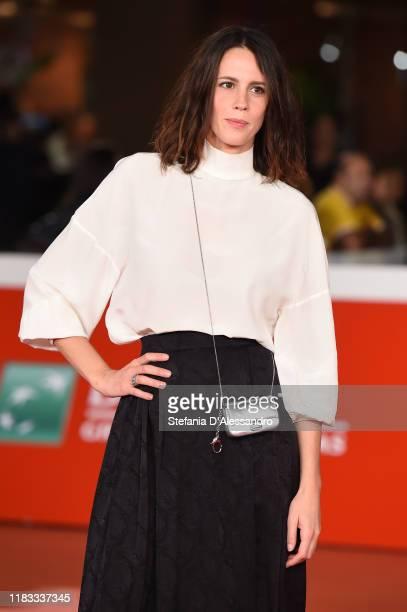 Chiara Martegiani attends the red carpet of the movie Il terremoto di Vanja during the 14th Rome Film Festival on October 23 2019 in Rome Italy