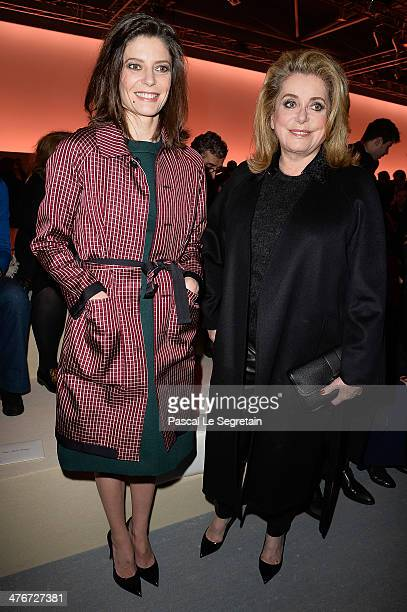 Chiara Mastroianni and Catherine Deneuve attend the Louis Vuitton show as part of the Paris Fashion Week Womenswear Fall/Winter 20142015 on March 5...