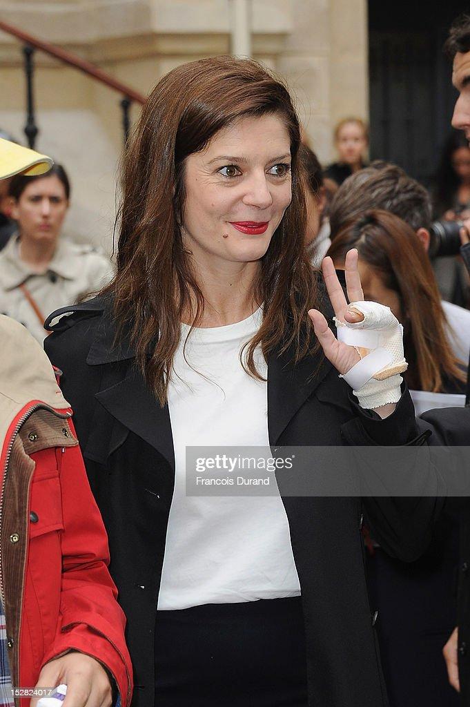 Chiara Mastroianni arrives at the Balmain Spring / Summer 2013 show as part of Paris Fashion Week at Grand Hotel Intercontinental on September 27, 2012 in Paris, France.