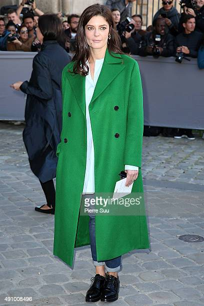 Chiara Mastroianni arrives at the Dior show as part of the Paris Fashion Week Womenswear Spring/Summer 2016 on October 2 2015 in Paris France