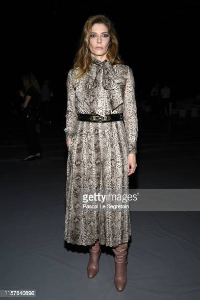 Chiara Mastroianni attends the Celine Spring Summer 2020 show as part of Paris Fashion Week on June 23 2019 in Paris France