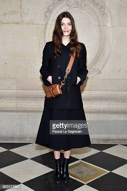 Chiara Mastroianni attends the Christian Dior Haute Couture Spring Summer 2017 show as part of Paris Fashion Week on January 23 2017 in Paris France