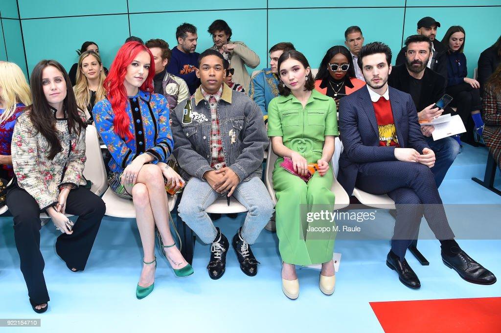 Gucci - Front Row - Milan Fashion Week Fall/Winter 2018/19 : News Photo