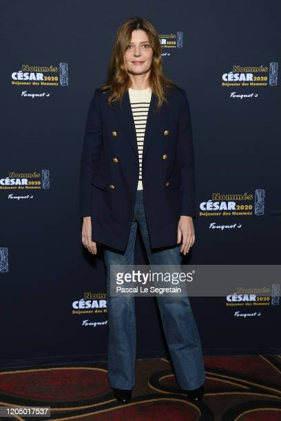 Chiara Mastroianni nominated for 'Best Actress' in 'Chambre 212' attends the Cesar 2020 Nominee Luncheon At Le Fouquet's on February 09 2020 in Paris...