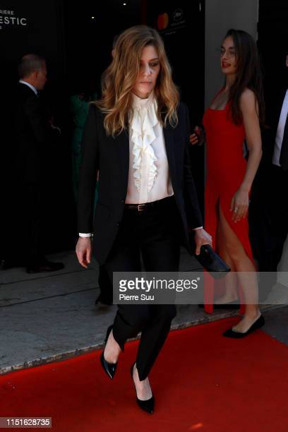 Chiara Mastroianni seen at Le majestic hotel during the 72nd annual Cannes Film Festival at on May 25 2019 in Cannes France