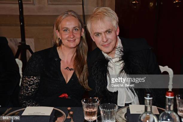 Chiara Modica Dona dalle Rose and Nick Rhodes attend a party to celebrate Nefer Suvio's birthday hosted by The Count and Countess Francesco Chiara...