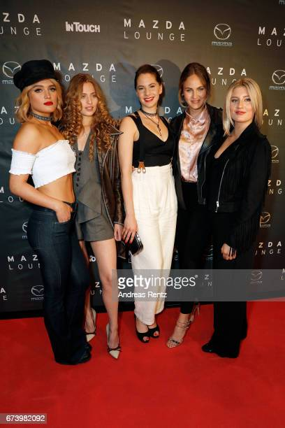 Chiara Moon Cosima Auermann Emma Kathleen Ferrer Elena Carriere and Luna Schweiger attend the spring cocktail hosted by Mazda and InTouch magazine at...