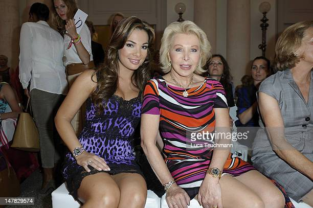 Chiara Ohoeven and UteHenriette Ohoven attend Basler Show during the MercedesBenz Fashion Week Spring/Summer 2013 at Hotel de Rome on July 4 2012 in...