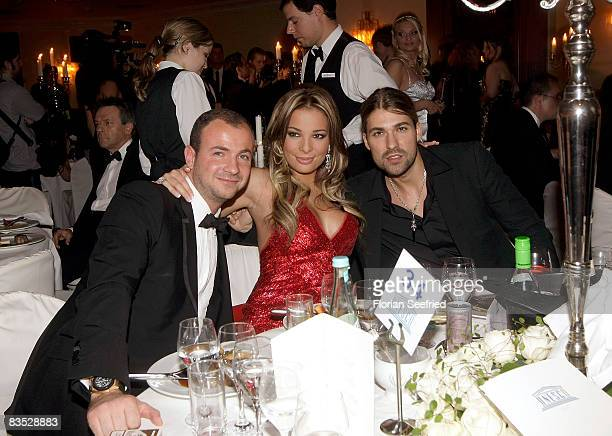 Chiara Ohoven and boyfriend Patrick Popowski and and violinist David Garrett attends the Unesco Benefit Gala For Children 2008 at Hotel Maritim on...