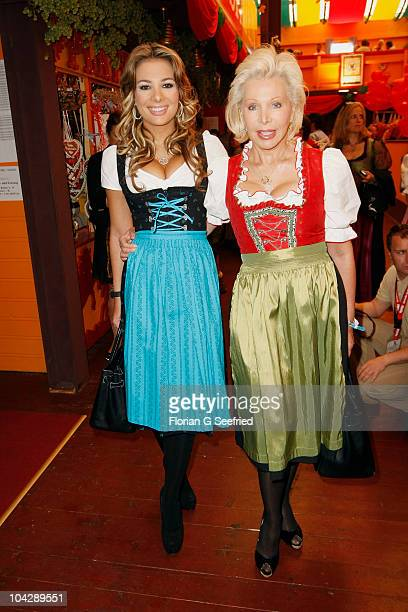Chiara Ohoven and mother Ute Henriette Ohoven attend the 'Sixt Damenwiesn' during the Oktoberfest 2010 at Hippodrom at Theresienwiese on September 20...