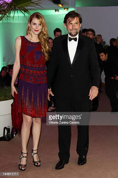 Chiara Palmieri and Jury President Nanni Moretti attend the 65th Anniversary Party at the Agora May 21 2012 in Cannes France