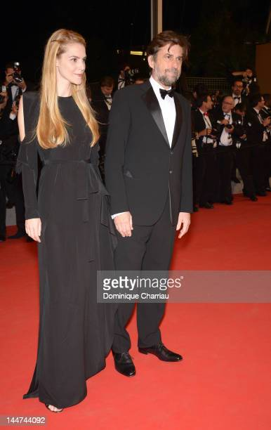 Chiara Palmieri and Jury President Nanni Moretti attend the Reality Premiere during the 65th Annual Cannes Film Festival at Palais des Festivals on...