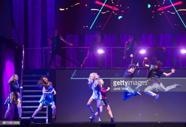 Chiara Parravicini Marlena Ratner Valentina Zenere Ana Jara Jorge Lopez and Michael Ronda perform on stage during Disney show Soy Luna at Palau Sant...