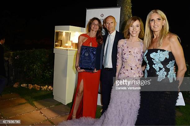 Chiara Pisa Beppe Ambrosini Silvia Grilli and Tiziana Rocca attend the Baume Mercier and Grazia Gala Dinner 61st Taormina Film Fest on June 20 2015...