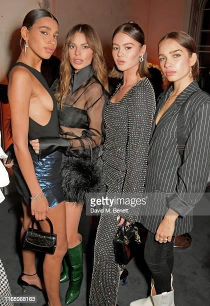 Chiara Sampaio Misse Beqiri Jordan Grant and Hana Cross attend the YSL New Fragrance 2019 UK launch party at Somerset House on September 17 2019 in...