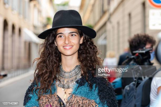 Chiara Scelsi attends the Etro fashion show during Milan Digital Fashion Week on July 15 2020 in Milan Italy