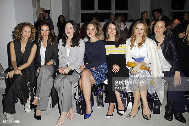Chiara Schoras, Alexandra Neldel, Maria Ehrich, Sonja Gerhardt, Alice Dwyer, Mina Tander and Jeanette Hain attend the Laurel show during the...