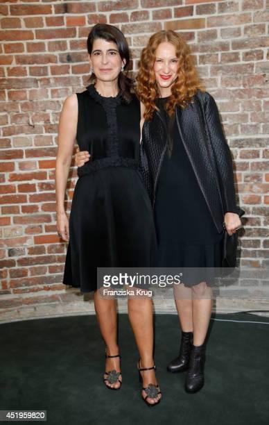 Chiara Schoras and Dorothee Schumacher attend the Schumacher show during the MercedesBenz Fashion Week Spring/Summer 2015 at Sankt Elisabeth Kirche...