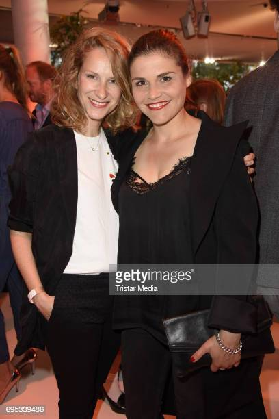 Chiara Schoras and Katharina Wackernagel attend the Cocktail prolonge to the SemiFinal Round Of Judging Of The International Emmy Awards 2017 on June...