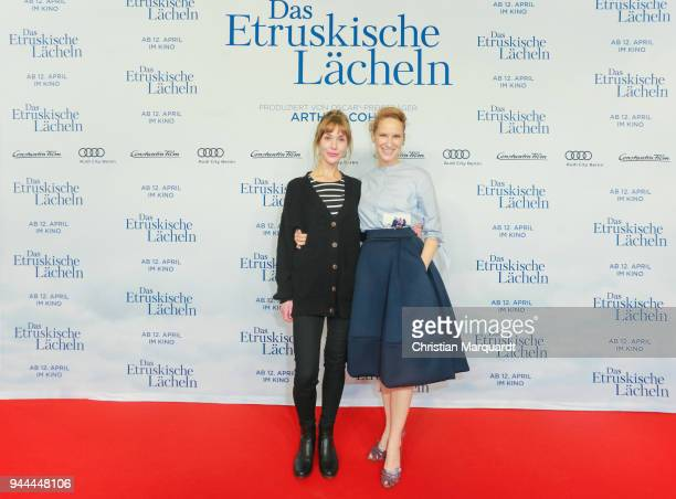 Chiara Schoras and Lea Fassbender attend the 'Das Etruskische Laecheln' Premiere at Zoo Palast on April 10 2018 in Berlin Germany