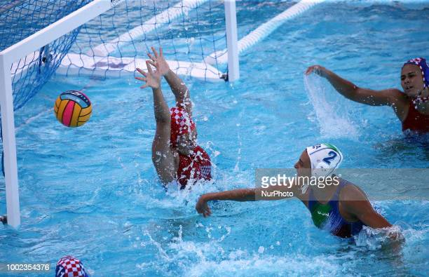 Chiara Tabani and Irena Barisic during the match between Italia and Croacia corresponding to the women group stage of the European Water Polo...