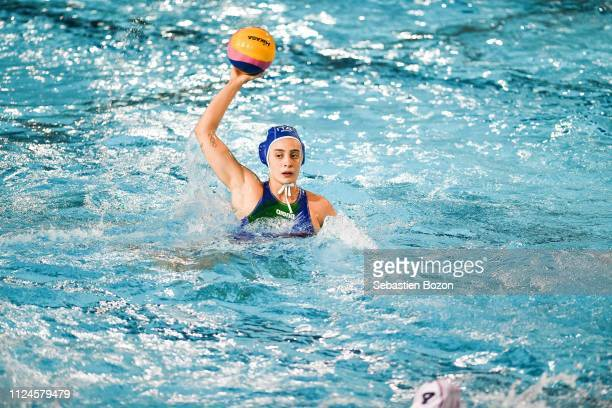 Chiara Tabani of Italia during the Women's International Match Water Polo match between France and Italy on February 12 2019 in Mulhouse France