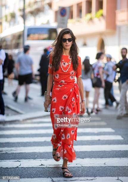 Chiara Totire is seen outside Prada during Milan Men's Fashion Week Spring/Summer 2019 on June 17 2018 in Milan Italy