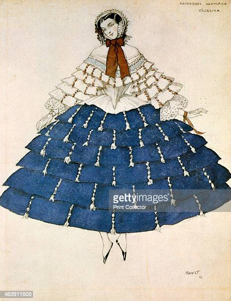 Chiarina design for a costume for the ballet Carnival composed by Robert Schumann 1919 From the Hermitage Museum St Petersburg Russia