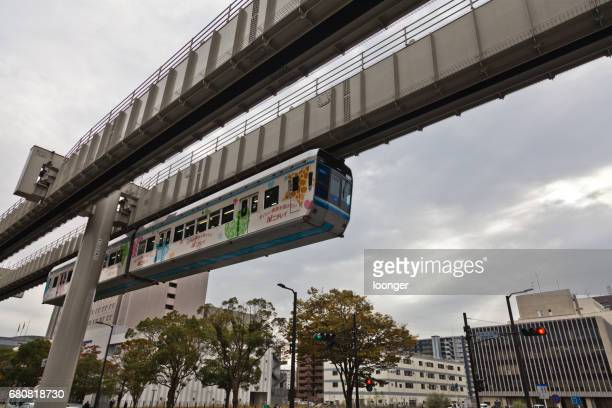chiba urban monorail, chiba, japan - monorail stock pictures, royalty-free photos & images