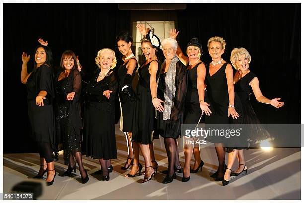 Chic crew with their black dresses from left to right Kate Ceberano Denise Drysdale Val Jellay Lindy Rama Nicky Buckley Dawn Fraser Belinda Green...