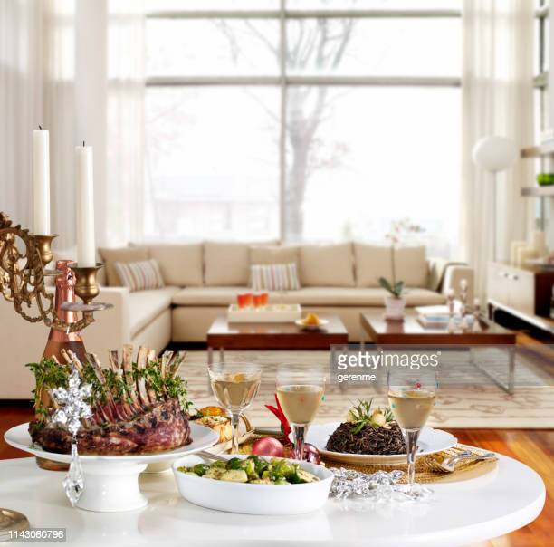 chic dining table - coffee table stock pictures, royalty-free photos & images