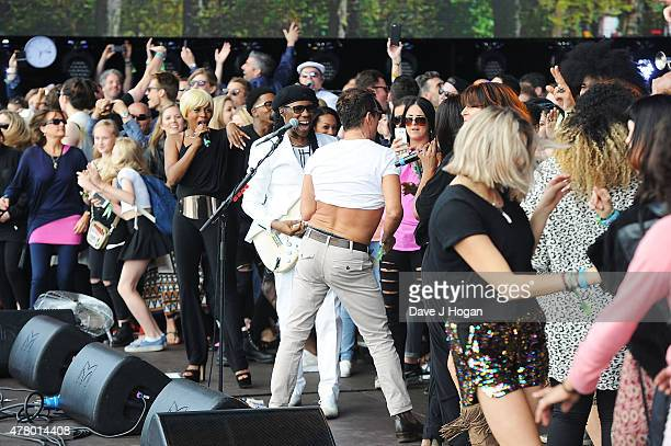 Chic featuring Nile Rodgers perform at the British Summer Time 2015 at Hyde Park on June 21 2015 in London England