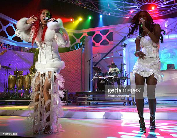 Chic perform onstage at the VH1 Hip Hop Honors at the Hammerstein Ballroom October 3 2004 in New York City