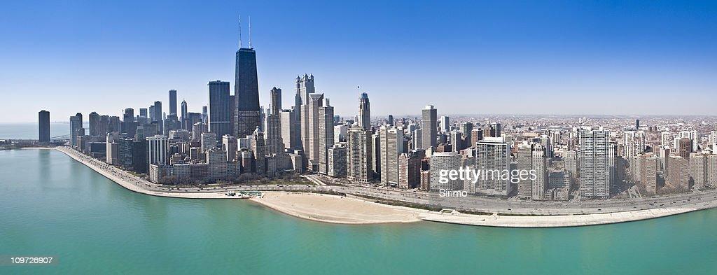 Chicago Aerial Panorama : Stock Photo