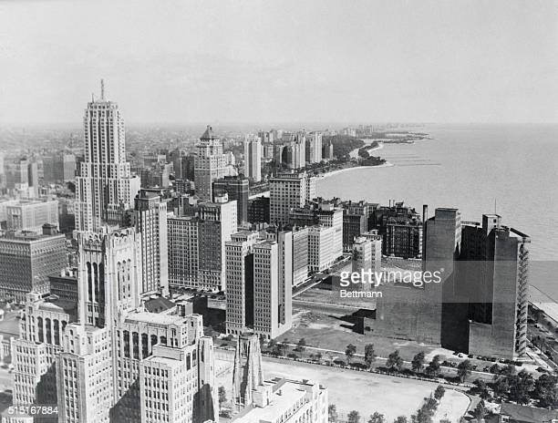 Chicago Air View The City by the Lake ChicagoThis beautiful aerial view of the midwest metropolis reveals how the great settlement got its name of...