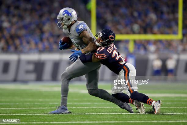 Chicago Bears cornerback Bryce Callahan attempts to tackle Detroit Lions wide receiver Kenny Golladay during the first quarter at Ford Field on...