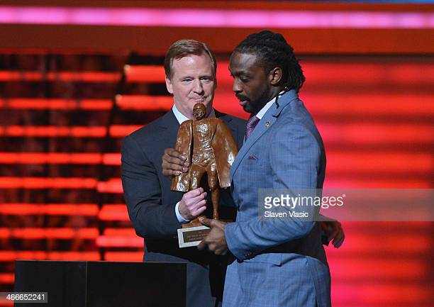 Chicago Bears cornerback Charles Tillman wins the Walter Payton NFL Man of the Year at the 3rd Annual NFL Honors at Radio City Music Hall on February...